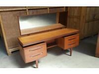 G plan teak retro dressing table and wardrobe
