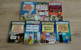 Selection of childrens books...Horrible histories, horrible geography, horrible science books