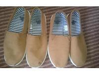 Boys canvas summer shoes x 2. Suit twin boys. Size 3