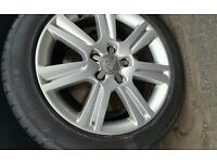 Brand new continental tyre 225/50 R17 Y. Comes with used audi alloy wheel in very good condition