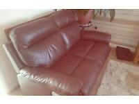 2 seater Paolo manual recliner chocolate