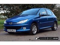 **FULL YEARS MOT** Peugeot 206 1.4 Sport Petrol Metallic Blue 2005