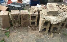 large concrete bricks