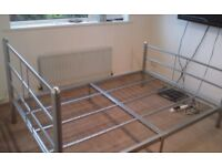 Double metal bed frame..