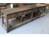 WANTED OLD GARAGE WORKSHOP BENCHS WORKTABLE METAL BENCH ENGINEERING BENCH