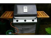 Outback titanium gas barbecue with gas bottle regulator