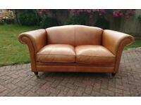 A Laura Ashley leather Gloucester sofa