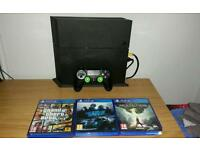 Ps4 1TB including 3 games and box etc.