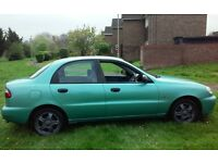 DAEWOO LANOS 1.6 AUTOMATIC MOT CHEAP RELIABLE RUN AROUND WITH VERY LOW MILES