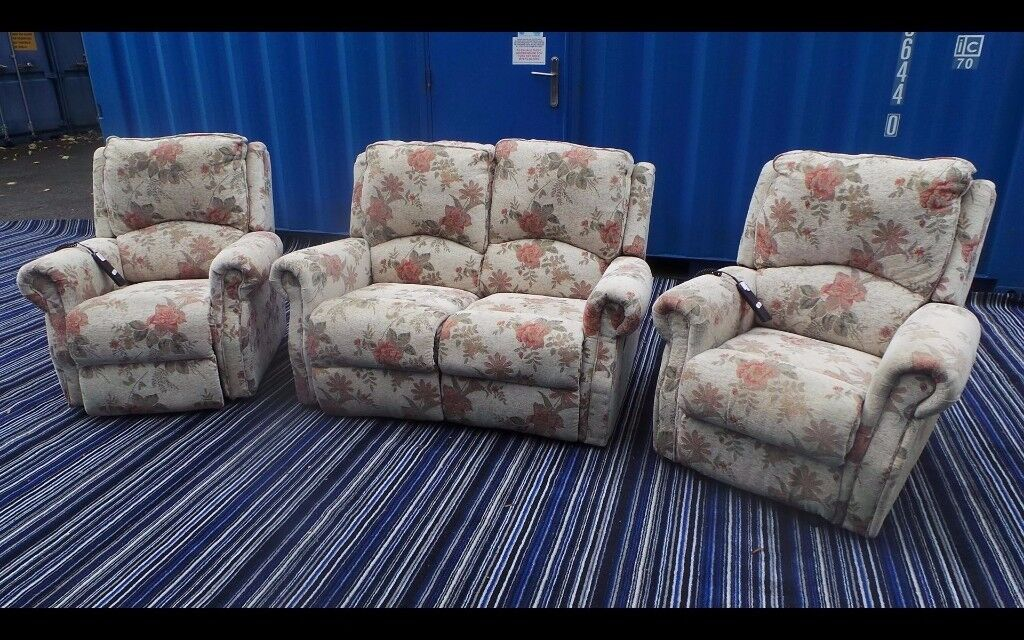 Two Seater Sofa With Electric Recliners,Possible Delivery