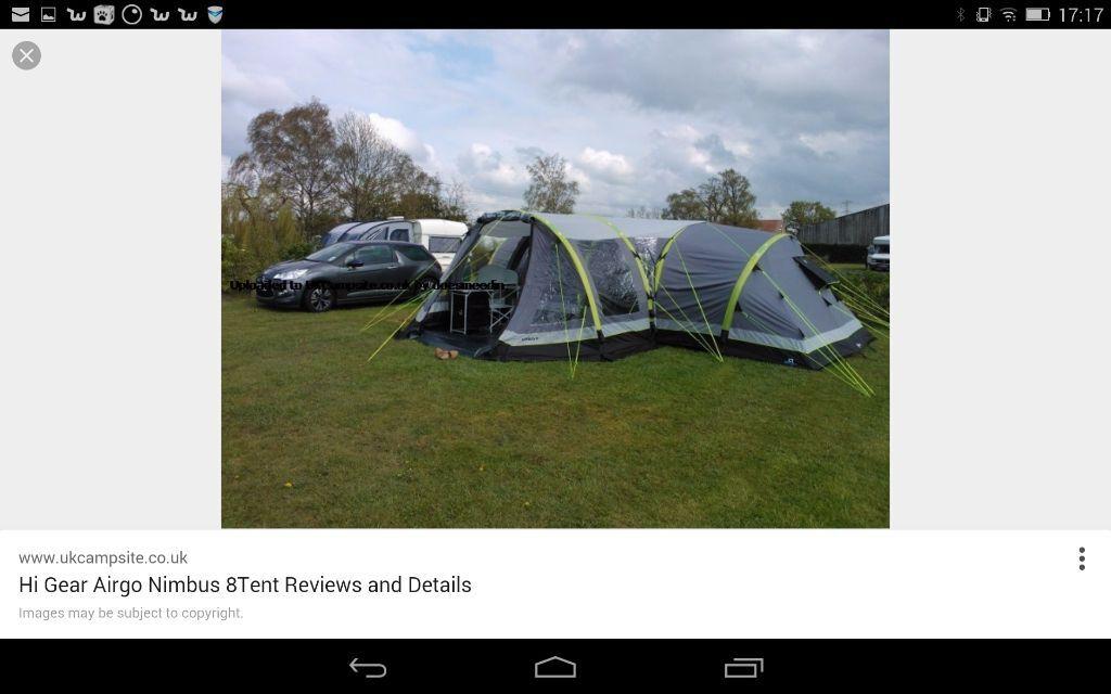 Airgo Nimbus 8 Tent u0026 Porch ... & Airgo Nimbus 8 Tent u0026 Porch footprint u0026 carpet. | in Derby ...
