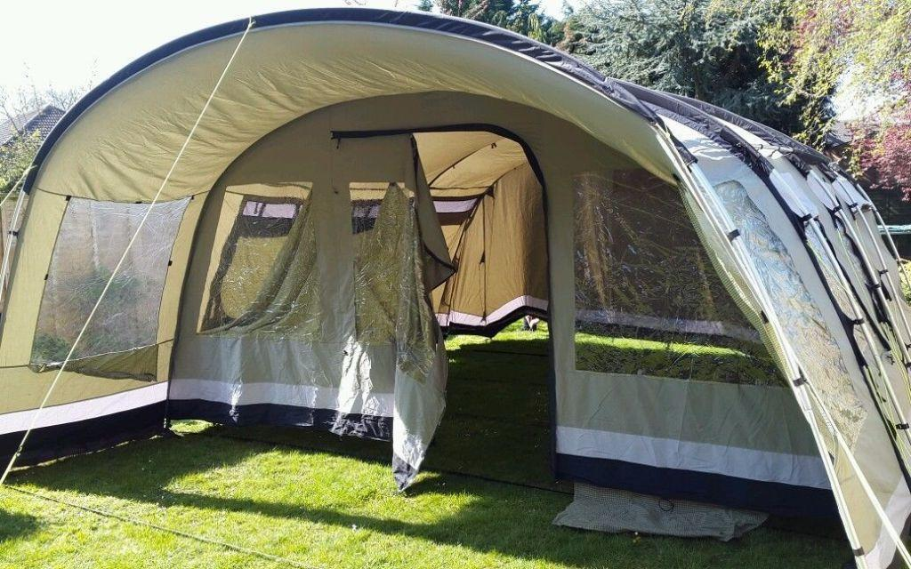 Outwell Wolf Lake 7 Tent 2012 in as new condition includes carpet ground & Outwell Wolf Lake 7 Tent 2012 in as new condition includes ...
