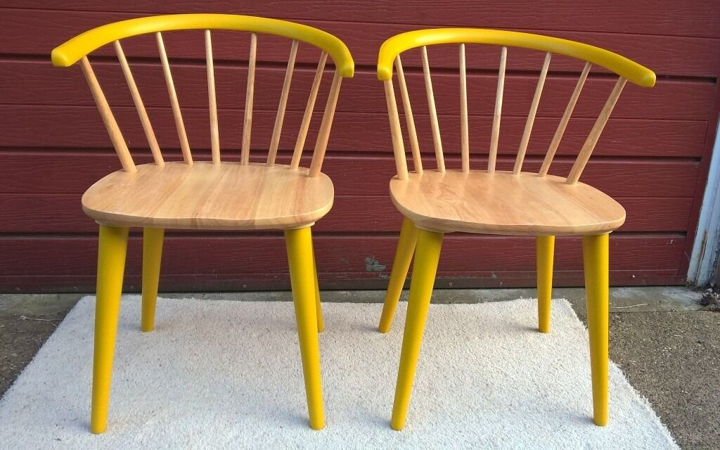 Pair Of Funky Wooden Chairs VGC Hand Painted