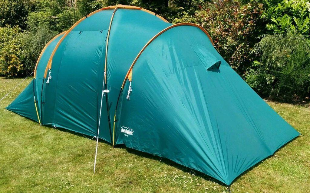 Oregon 4 man 2 bedroom standing height dome tent - double skinned in VGC & Oregon 4 man 2 bedroom standing height dome tent - double skinned ...