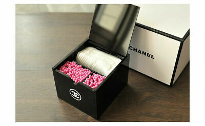 Chanel VIP Gift Cotton Pads/ Cosmetics Organizer 3 Grid With Lid
