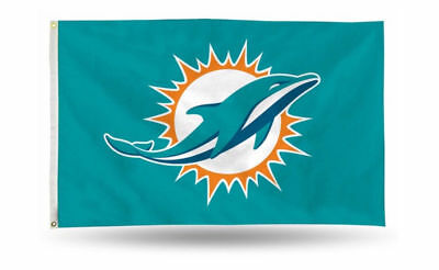 Miami Dolphins Flag (Miami Dolphins 3' x 5' Flag Banner All Pro Design USA SELLER! Brand)