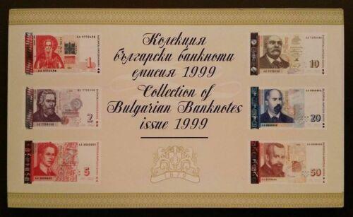 Bulgaria 1, 2, 5, 10, 20, 50 Leva 1999, P 114-119 UNC, AA prefix