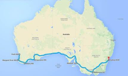Lift offer/ rideshare Perth -> Sydney 03/09 - 19/09 West Perth Perth City Preview