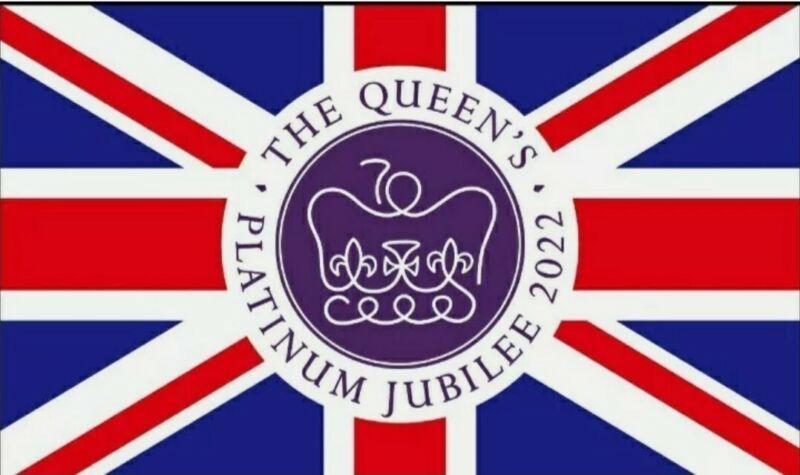 Queen Elizabeth 2022 Platinum Jubilee 70th Anniversary - Flag