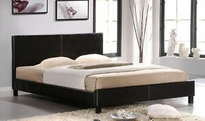 Black or White PU Leather Bed Frame Springvale Greater Dandenong Preview