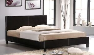 PU Leather Bed Frame From $159 Black/White 1 Year warranty Melbourne CBD Melbourne City Preview