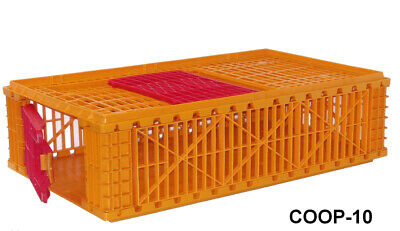 2 Pack - Pheasant Transport Crate Bird Coop Poultry Cage 38l X 23w X 10 12h