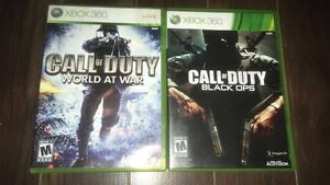 Call of duty world at war & Black Ops for Xbox 360
