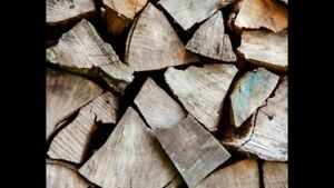 Dry hardwood firewood, free box of kindling, delivery available