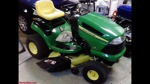 WANTED JOHN DEERE RIDING LAWN MOWER WANTED