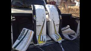 Brian's pads reebok goalie gloves