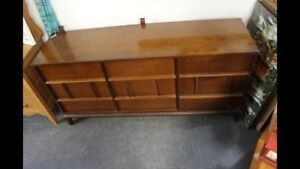 MCM Walnut 9 Drawer Dresser $75