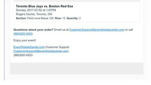 Toronto Blue Jay Tickets