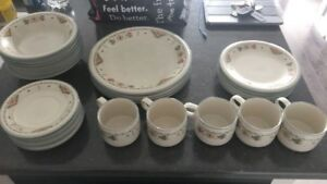 MOVING SALE: Set of studio nova dishes, painting and mirror