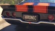 """QLD PERSONALISED PLATES """"KRONIC"""" Pimpama Gold Coast North Preview"""