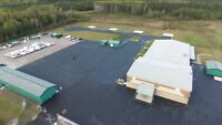 Slurry sealcoating, parking lots and driveways