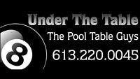 POOL TABLE MOVES, SERVICE & SALES. BEST PRICE GUARANTEED