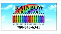 Rainbow Child Care has spaces available!