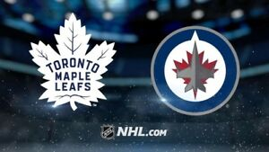 Maple Leafs vs Winnipeg Jets Sep 27th GOLDS!!! 9 Rows From Ice!!