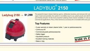 Lady bug 2150 steamer - retails for $1300