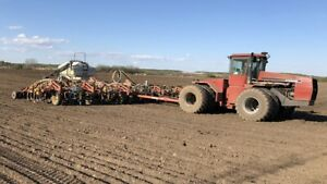 Case 9180 and bourgault drill