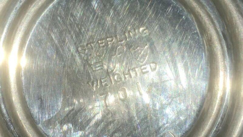 Antique/ Vintage Weighted Sterling Silver Creamer & Sugar Bowl Stamped Hallmark