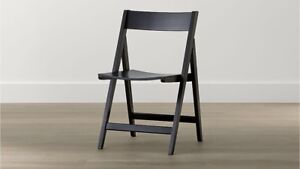 Crate and Barrel woods folding chairs