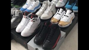 2 pairs left! Sz 9 Jordan 11's Gold and sz 9 Fire Red 5's sz10
