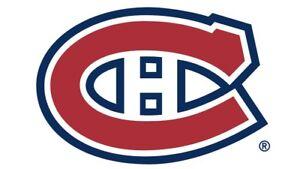 Habs Tickets/billets Canadiens  2018-19 White/Blanc