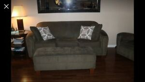 Couch, Club Chairs & Ottoman (or pick & choose)