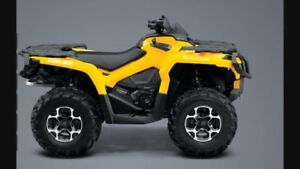 2015 Canam Outlander 650 DPS with Alpine Flex Plow