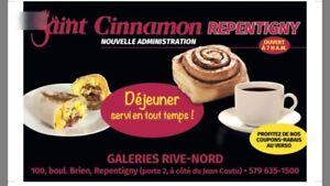 Business Franchise for sale/a vendre cinnamon