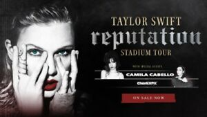 Taylor Swift tickets -low 100 level (Below Face Value)