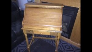 Old fashion roll-top desk