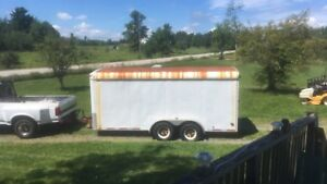 16FT enclosed trailer TRADE for car trailer